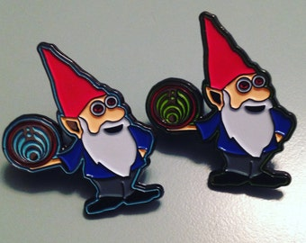 GREEN Bassnectar Gnome pin