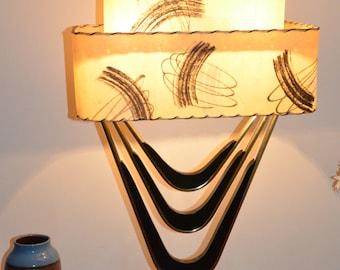 Original Majestic Lamp and Fiberglass Shade (totally restored)