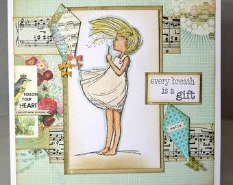 Inspirational One of A Kind Handmade Card