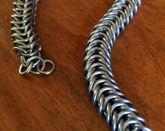 Handmade Chainmaille Jewelry, Boxed Chainmaille, Bracelet, Wire Jewlery