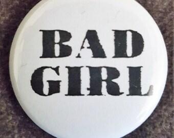 Bad Girl button