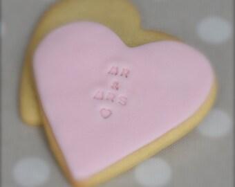 12 Wedding Favour Vanilla Cookies