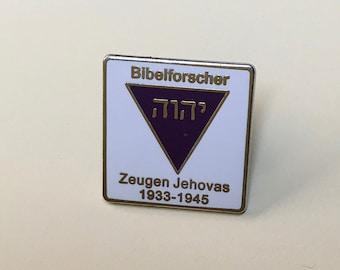4x   Purple Triangle Lapel Pins