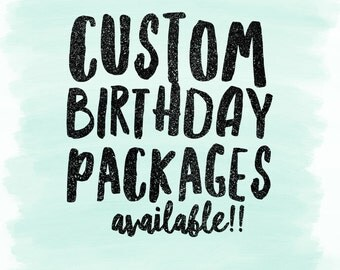 Custom birthday party packages- baby boy, baby girl- first birthday-birthday party decorations- birthday outfit