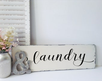 Laundry Room Sign, Laundry Signs, Wood Laundry Sign, Laundry Room Signs and Decor, Rustic Laundry Sign