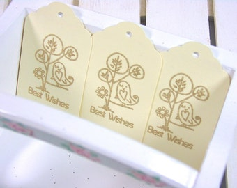 Best Wishes Tags, Thank You Tags, Owl Tags