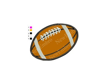 FootBall rugby Applique Embroidery Design - 4 sizes