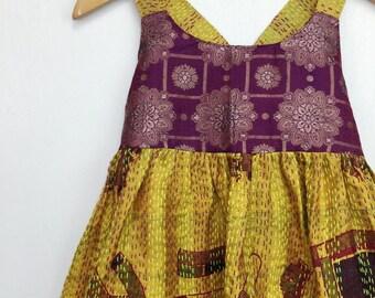 3-4 Years Pocket Sari Maxi, Bohemian Toddler, Kid Fashion, Toddler Dress, Boho Kids, Kids Dress, Hippie Dress, Kids Maxi, Flower Girl