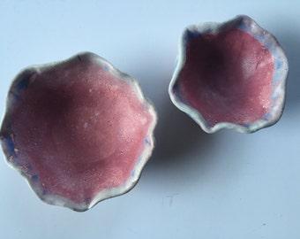 Blue & pink Pinch Pot Set