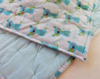Blue Puppy Baby Quilt