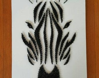 Zebra String Art