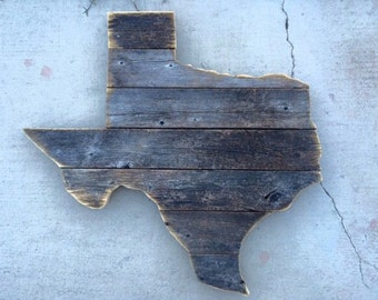 Rustic Reclaimed Wood Texas State Decor