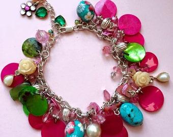 The Gypsy Pink Charm Bracelet