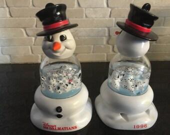 Vintage Collector Snowmen Ornaments 1996