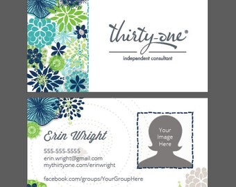 Thirty One Floral 1 Business Card