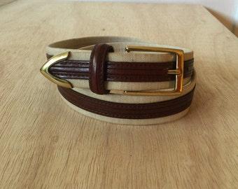 1990's Cole Haan belt • vintage • brass •