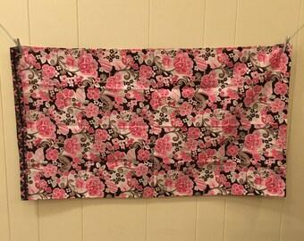 pink flower pillowcase