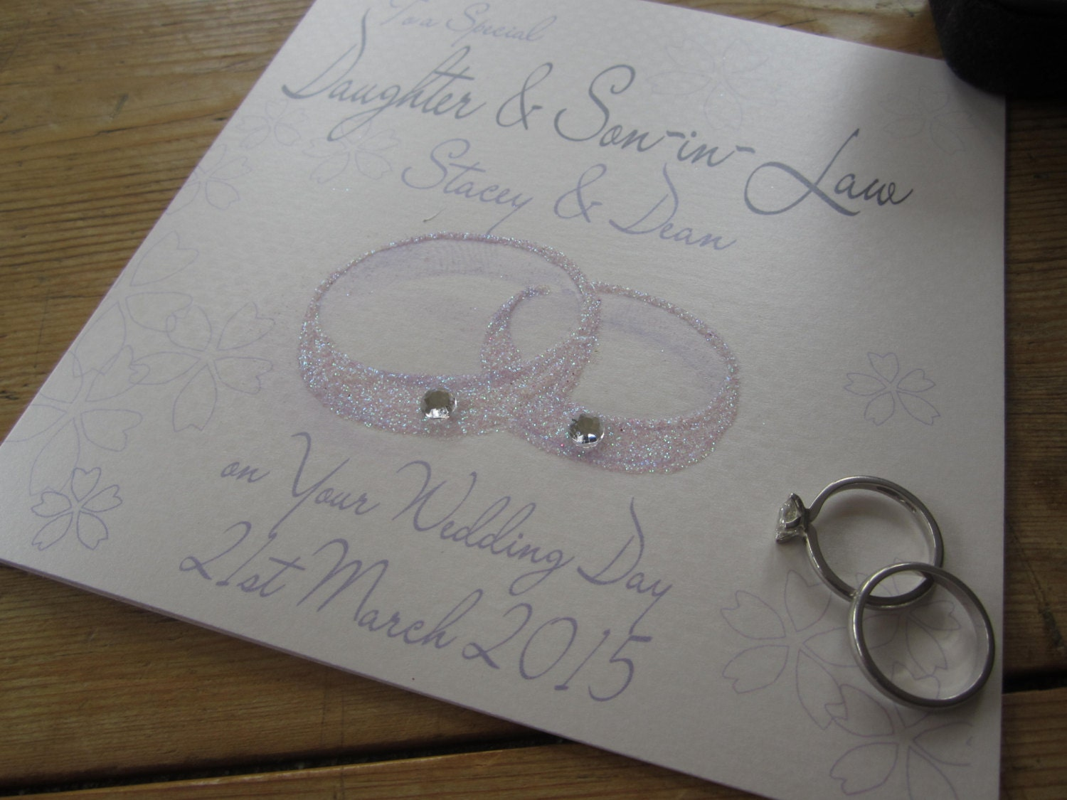 Personalised Wedding Gift For Daughter : Personalised Wedding Card Daughter/Son & Son/Daughter-in-Law