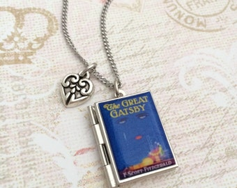 The Great Gatsby Miniature Book Locket Necklace