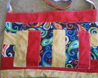 Red and gold tote
