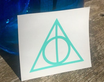Deathly Hallows symbol from Harry Potter vinyl decal