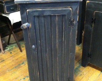 Black Primitive Jelly Cupboard