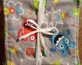 monster flannel cloth wipes