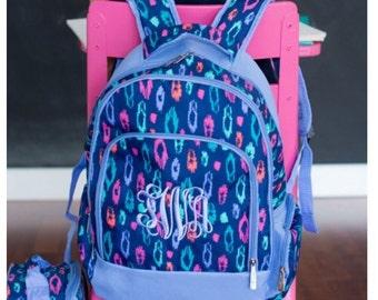 Monogrammed Backpack, Personalized Backpack, Girls Backpack, School Backpack, Laney Leopard Backpack