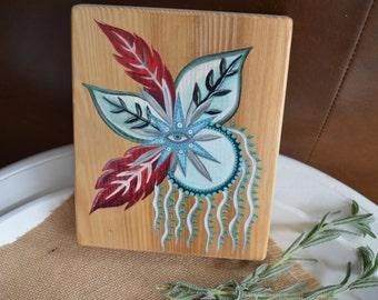 The Gift Eye Woodslab ~ Original Oil on Wood
