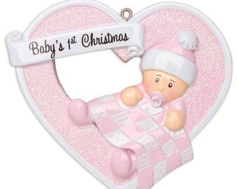 Baby's 1st Christmas Personalized Christmas Ornament