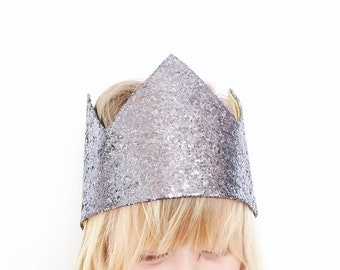 Silver crown. Princess crown. Sparkly. Dress up. Fancy dress. Prince. Photo prop for Cake smash.