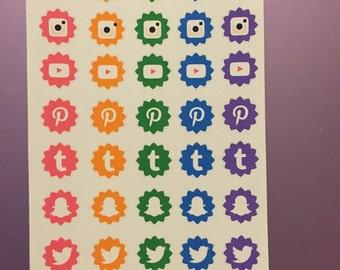 P44 // Rainbow Social Media Icons