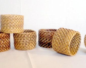 Woven Nito Wood Napkin Ring Holder (Set of 2) Ethnic Decor Philippines
