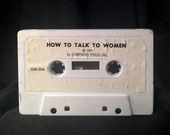"Vintage ""How to Talk to Women"" Cassette Tape 1980 vintage cassette vintage self-help personal coach vintage inspiration 1980"