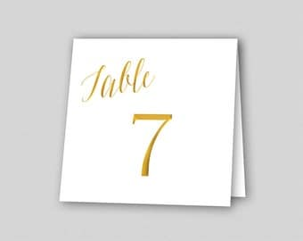 Gold Wedding Table Number Template Table Number Cards Table Name Cards Wedding Table  sc 1 st  Etsy & Table number tent | Etsy