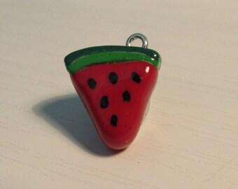 Watermelon Slice Polymer Clay Charm