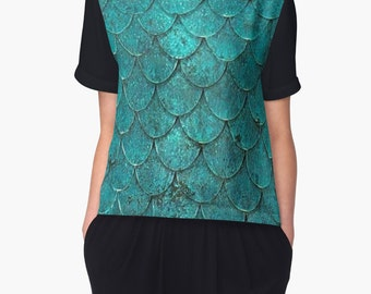 Mermaid Scales Women's Chiffon Top