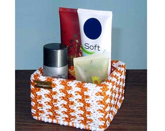 Orange and white basket