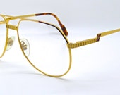 Hilton of London 24KT Gold Plated Aviator Frame Made In Italy