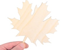 Large Wooden Maple Leaf (15cm) Shape Art Projects Craft Blank Nature Decoration Gift Decoupage Laser Cut