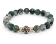 Moss Agate Bracelet - Spritual, ethically sourced vegan jewellery.