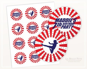 AMERICAN NINJA WARRIOR Birthday Party Stickers / Labels