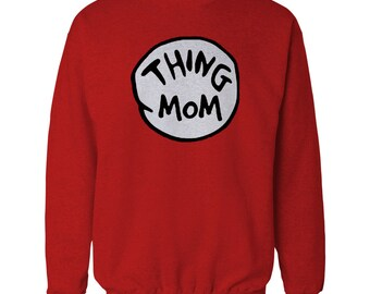 Dr. Seuss Thing 1 Thing 2 Costume sweatshirt.  also available for the whole family.