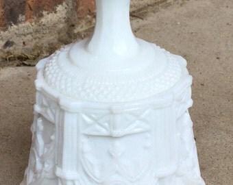 Vintage Fenton Milk Glass Gothic Design Bell