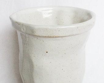 Glossy White Stoneware Beaker