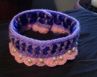 Coker necklace crocheted