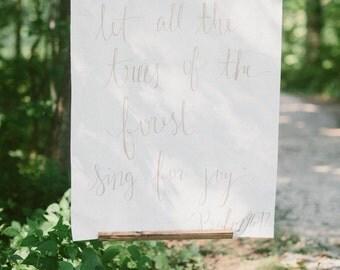 Custom Wedding Calligraphy Hanging Banner