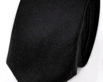Men's Black Skinny Tie Slim Fashion