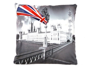 PARLIAMENT CUSHION COVER london novelty digital printed