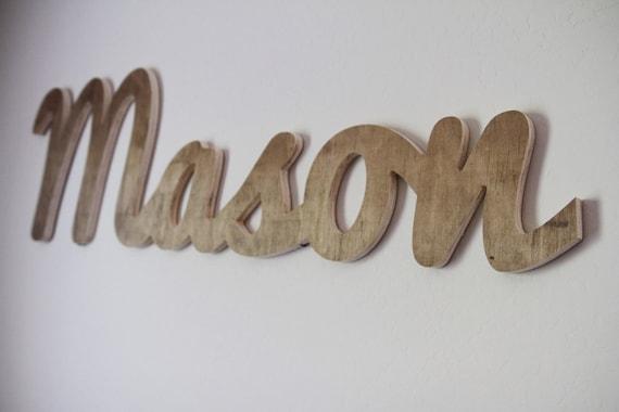 Custom Cursive Wood Name Cutout Wall Home Decor